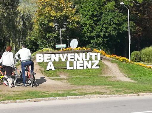 Benvenuti a Lienz scritta