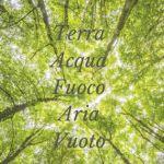 Elementi energetici foto di piante con le scritte terra, acqua, fuoco, aria, vuoto