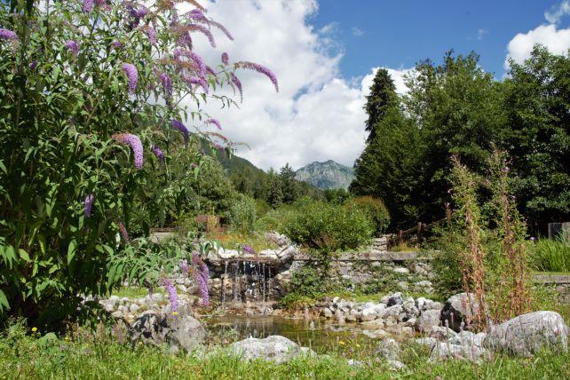 Veduta del giardino a Pieve del grappa