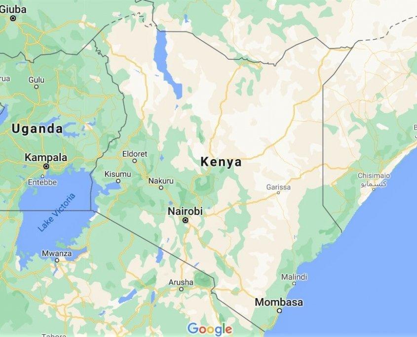 cartina kenya