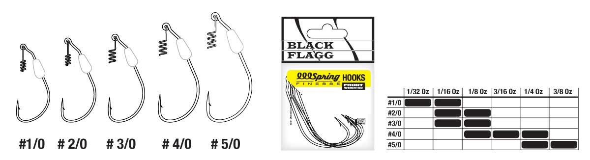 BLACK FLAGG - Spring Hooks Front Weighted