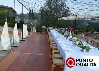 Noleggio sistemi mobili di nebulizzazione per feste private