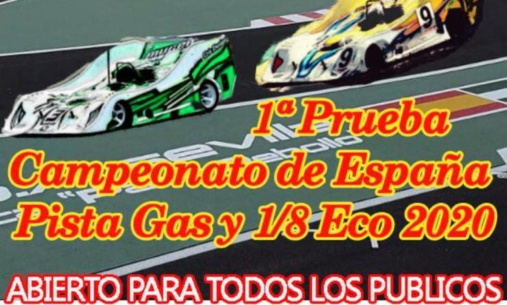 Campeonato España 1/8 Pista Gas 2020 y Touring Gas 2020