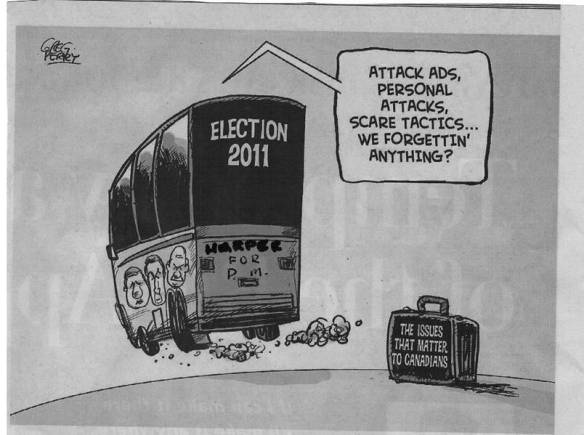 Harper forgets issues