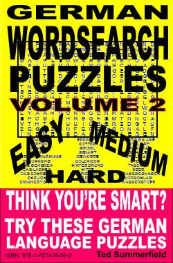 German Words Search Puzzles Volume 2 cover.