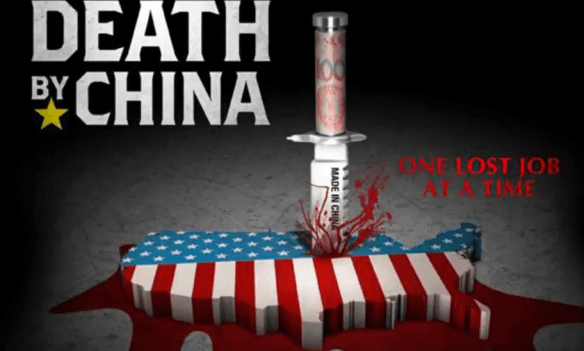 An image from Peter Navarro's 2012 documentary Death by China Photograph: Netflix