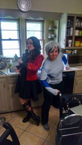 Scarlet Wtich with my RL twin as Quicksilver