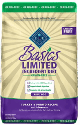 Blue Buffalo Basics Limited Ingredient Grain-Free Formula Turkey & Potato Recipe Adult Dry Dog Food