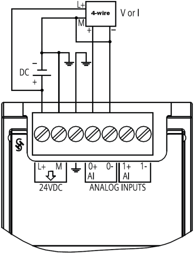 how to connect a sensor to the analog signal modules of
