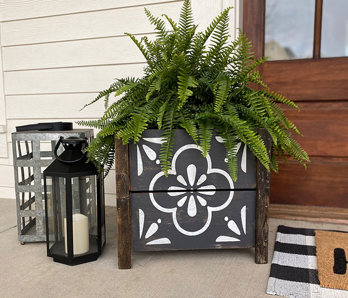 buy premade wood planters shop staten