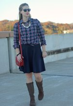 plaid-shirt-navy-skirt-brown-boots-3