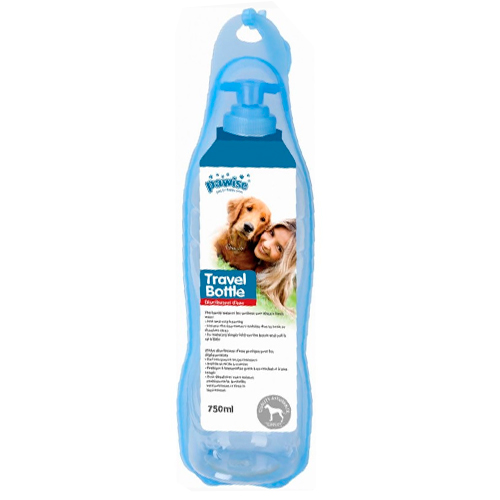 botella de agua para perro