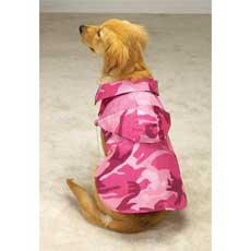 Camo pink dog coat