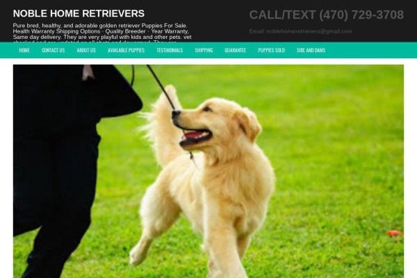 Noblehomeretrievers.com - Golden Retriever Puppy Scam Review