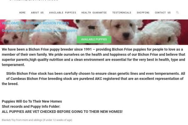 Stirlinbichon.com - Bichon Frise Puppy Scam Review