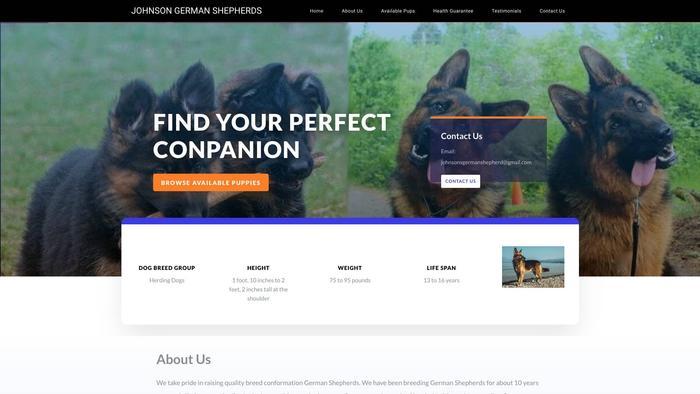 Johnsongermanshepherds.com - Germanshepherd Puppy Scam Review