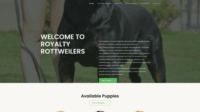 Royaltyrottweilers.com - Rottweiler Puppy Scam Review