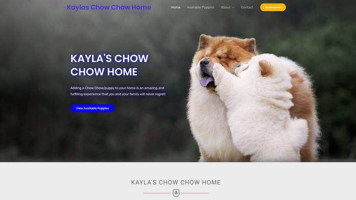 Kaylaschowchowhome.com - Chowchow Puppy Scam Review