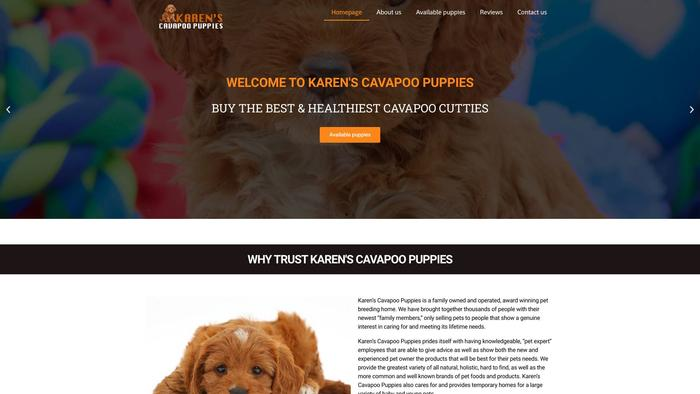 Karencavapoopuppies.com - Cavapoo Puppy Scam Review