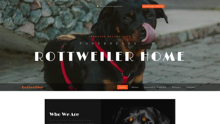 Treasurerottweilers.info - Rottweiler Puppy Scam Review