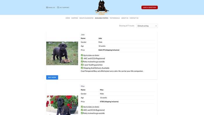 Gbcanercorsopuppies.com - Cane Corso Puppy Scam Review