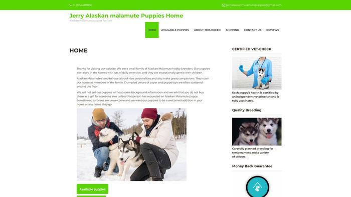 Jerryspuppiessite.com - Malamute Puppy Scam Review