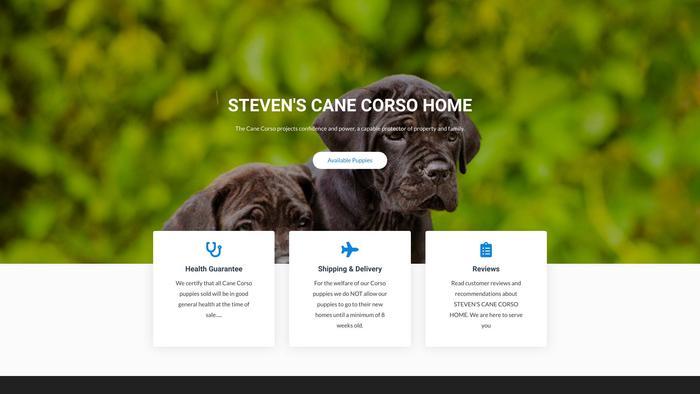 Stevenscanecorsohome.com - Cane Corso Puppy Scam Review