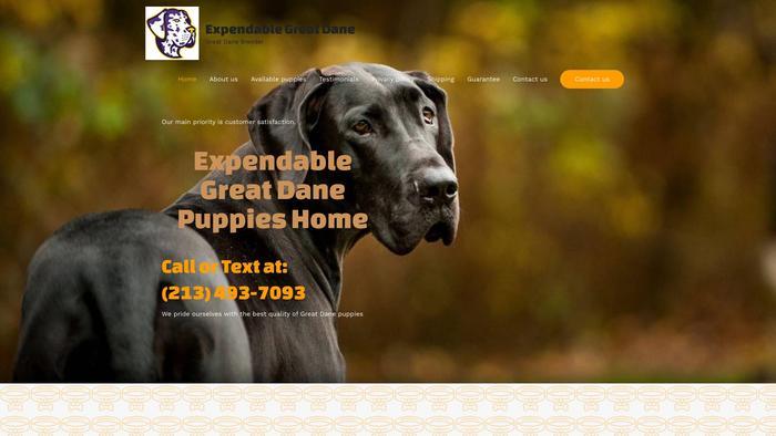 Expendablegreatdanepups.com - Great Dane Puppy Scam Review