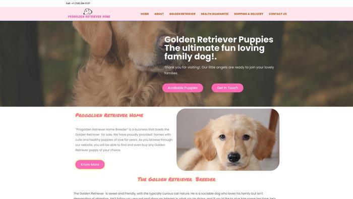 Progoldenretrieverhome.com - Golden Retriever Puppy Scam Review