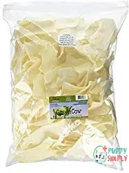 Green Cow Rawhide Dog Bones, Natural Chips