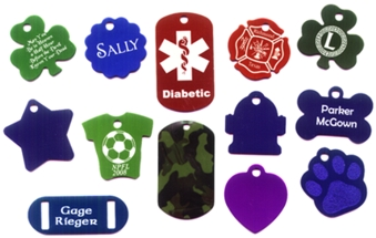 different pattern dog tags