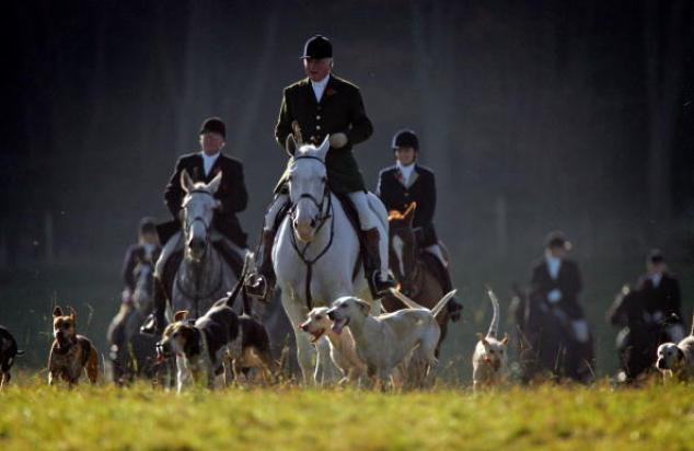 First Meet Of The Season For The Beaufort Hunt