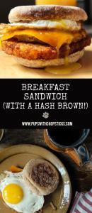 Breakfast Sandwich (with a Hash Brown!)