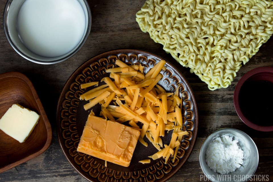 Cheese Ramen (Ram' and Cheese) Ingredients