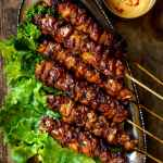 Grilled Thai Coconut Chicken Skewers Pups With Chopsticks
