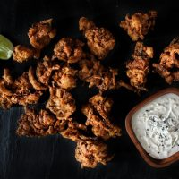 Chicken Pakoras with Creamy Coconut Dip