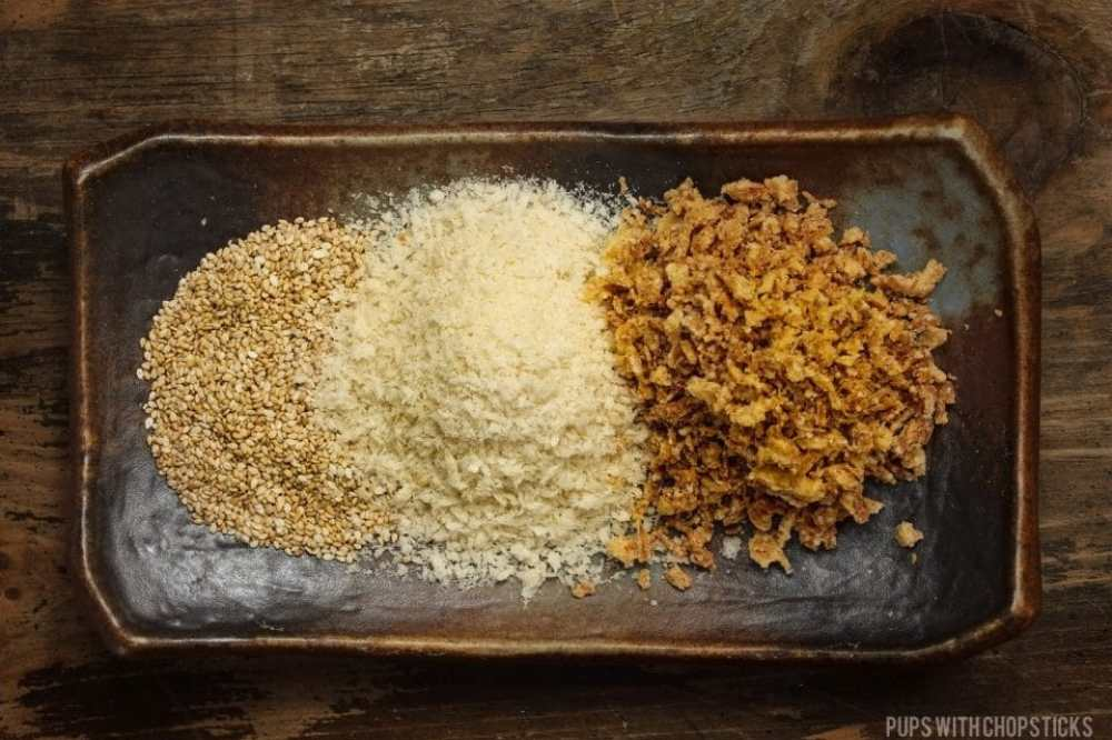 Crispy Topping Ingredients for Chinese Sticky Rice (Lo Mai Fan)