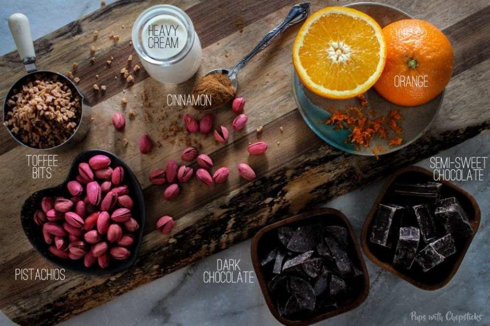 Toffee Orange Chocolate Truffles Ingredients
