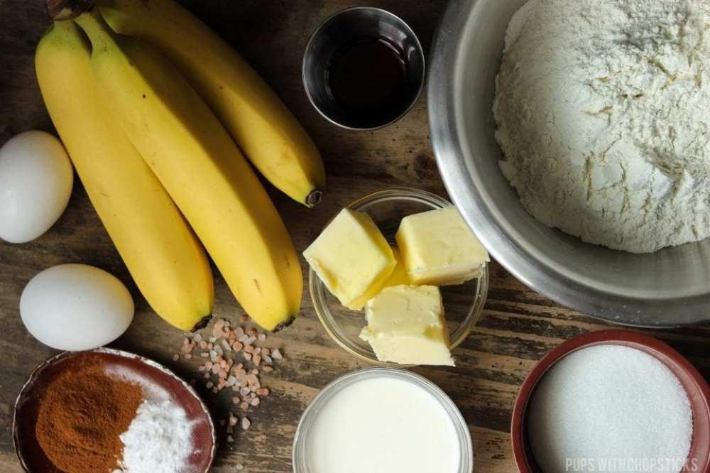 Roasted Banana Banana Bread Recipe Ingredients