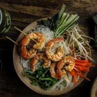 Grilled Shrimp Vermicelli Noodle Bowl