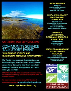 Community Science Talk Story Event