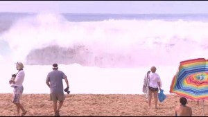 Lifeguards on Alert for Monster Surf