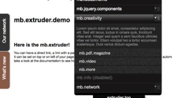 jquery mb extruder updated to version 1 8 0 | Pupunzi