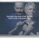 How to use a Yotube movie as background of your HTML page