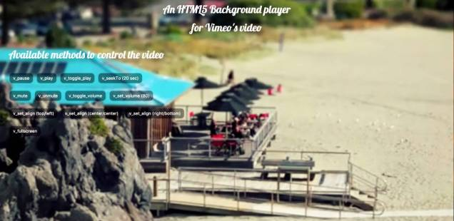 Use a Vimeo® video as background of your page