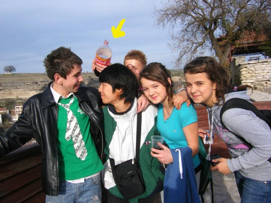 トルコの学生たちとの写真