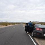 砂漠と車の写真