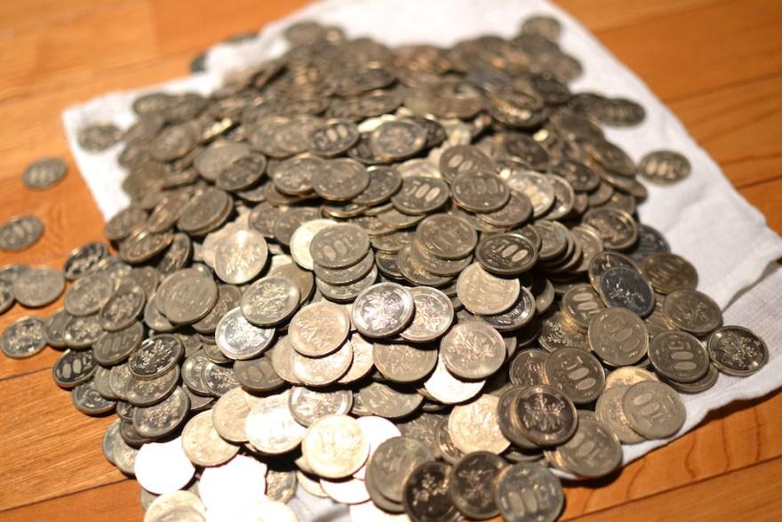 500円貯金の中身(48万円)の写真