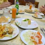 キューバ・ハバナの民宿ホアキナ(夕食)の写真