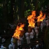 和歌山県|熊野那智大社の火祭り(燃える大松明)の写真